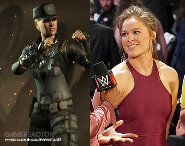 Ronda Rousey channels Sonya Blade in the WWE ring