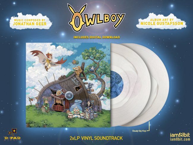 Owlboy vinyl soundtrack and Boguin plush coming soon