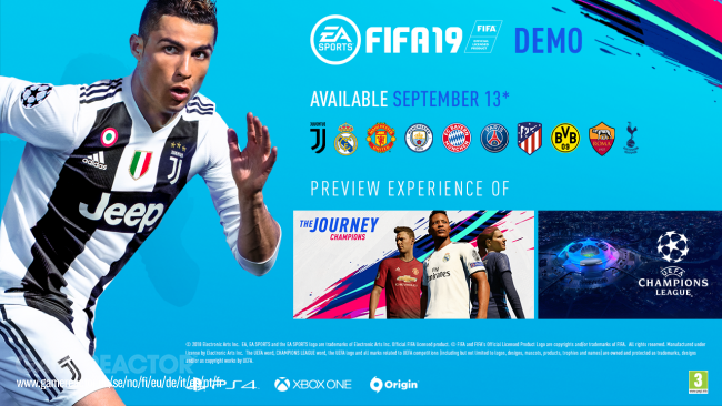 FIFA 19 demo goes live at 15:00 BST today