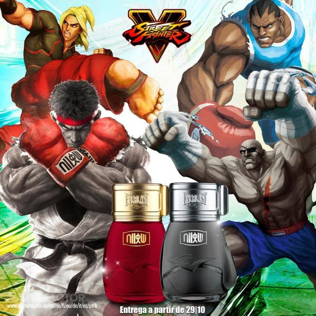Everlast launches Street Fighter perfumes