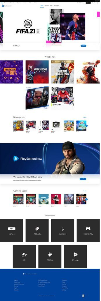 Welcome to the new and very white PlayStation Store