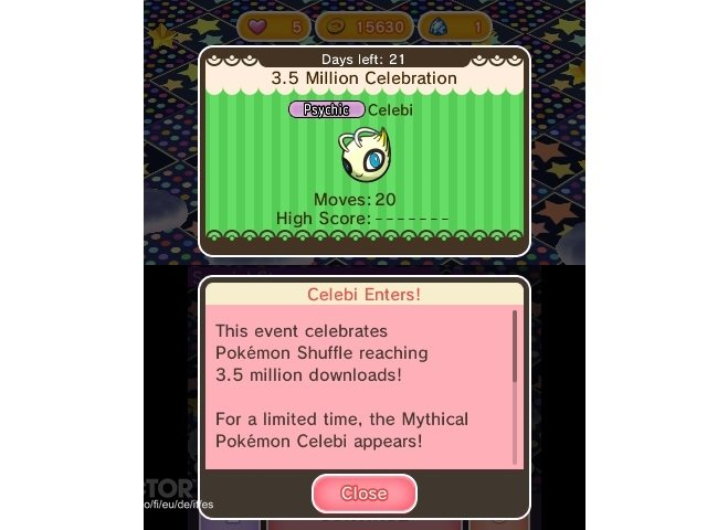 Pokemon Shuffle reaches 3.5 million downloads