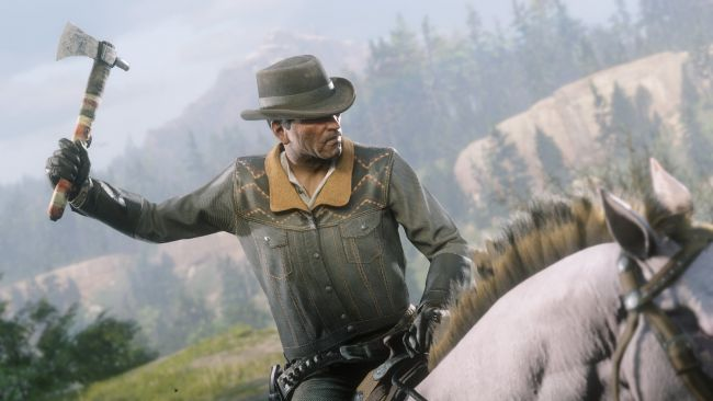 Red Dead Online's early content for PS4 includes Tomahawk