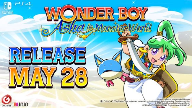 Wonder Boy: Asha in Monster World's western release date confirmed