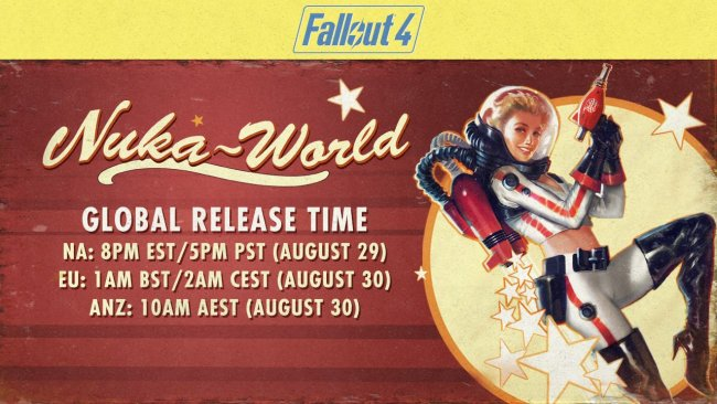 Fallout 4 Nuka-World global launch times confirmed