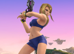 This is what Samus looks like in Super Smash Bros.