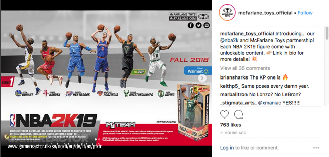 McFarlane Toys announce NBA 2K19 action figures
