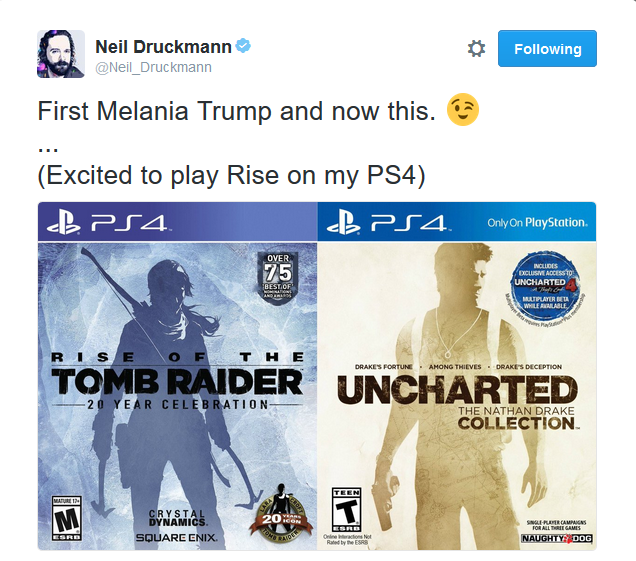 Uncharted Developer Pokes Fun At Rise Of The Tomb Raider