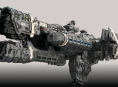 Halo fan constructs over two meter long UNSC ship