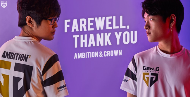 Ambition and Crown leave Gen.G's League of Legends team