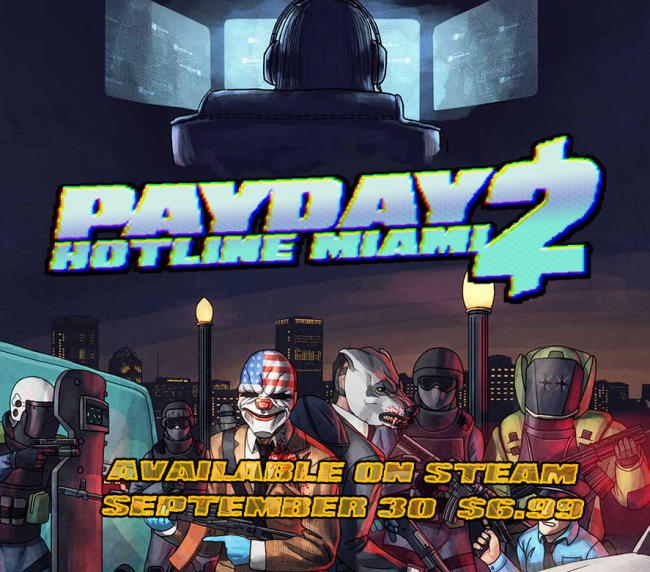 Payday 2 meets Hotline Miami in DLC pack
