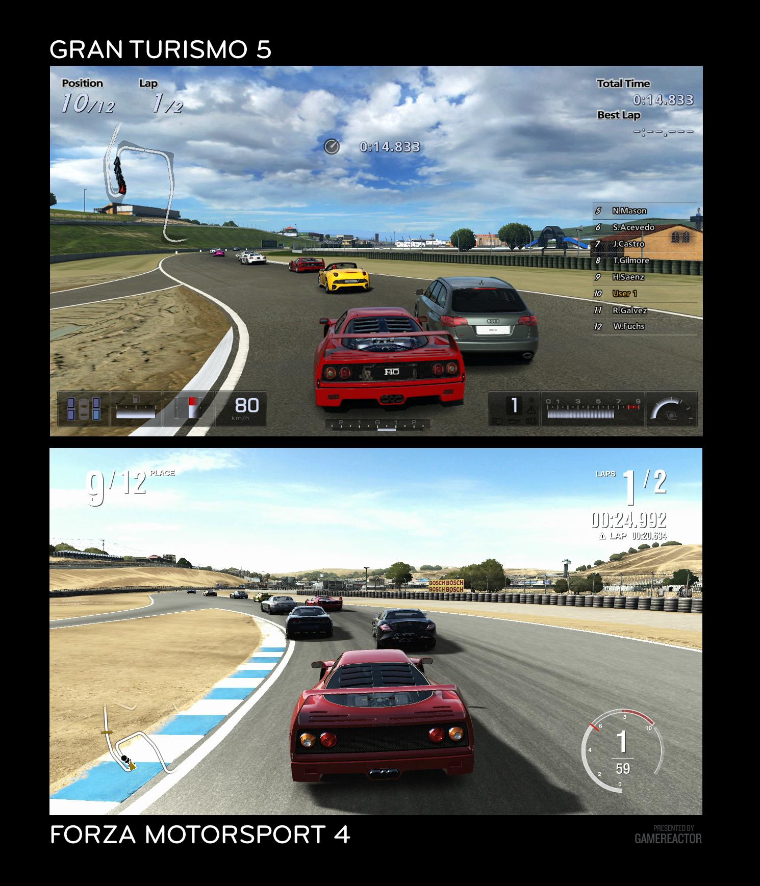 Pictures of Forza 4 vs Gran Turismo 5 4/7