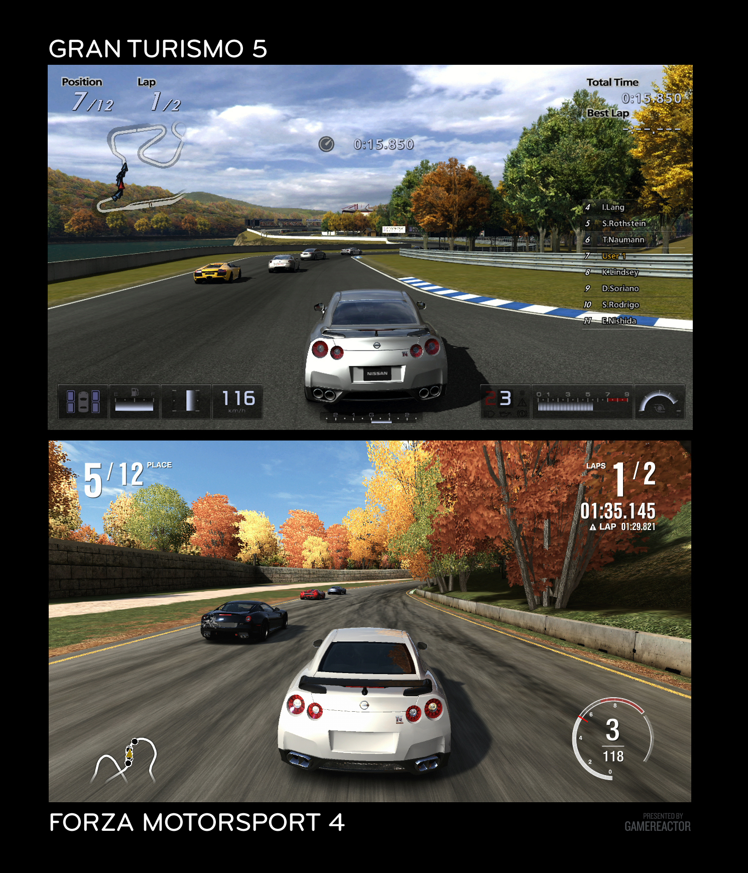 Forza 4 Vs Gran Turismo 5