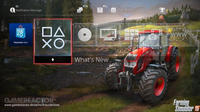 Free Farming Simulator 2015 theme for PS4 - Farming