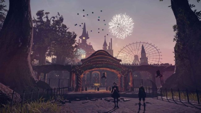 Nier: Automata concept artist talks amusement park level