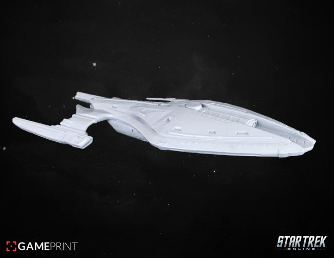 You can make a model out of your Star Trek Online ship