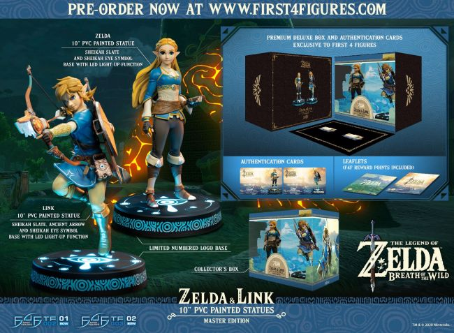 New Zelda and Link First 4 Figures are limited and LED-lit