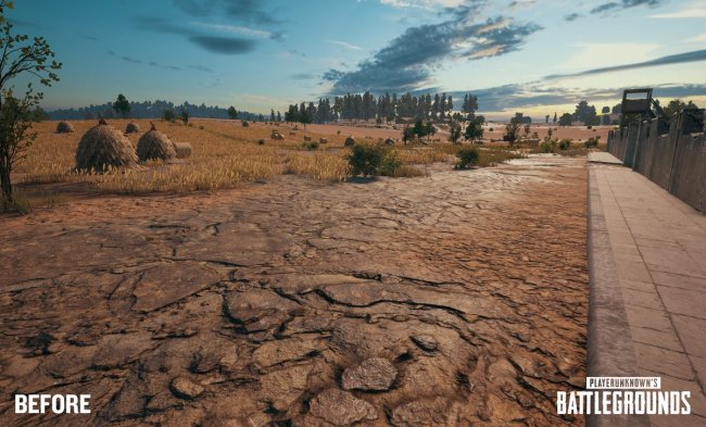 See PUBG's new terrain technology in effect