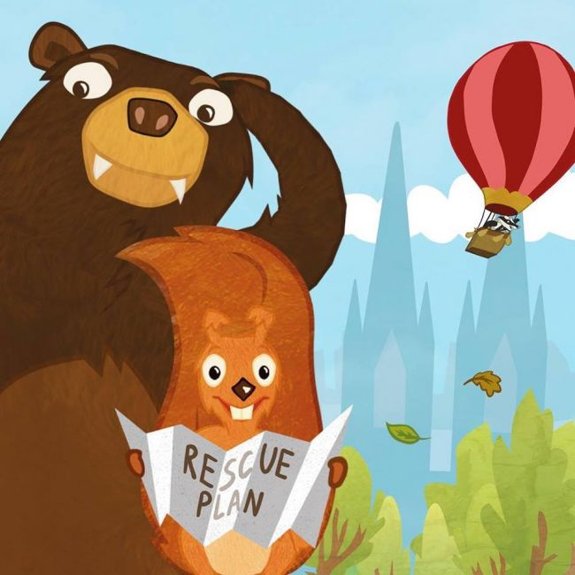 Squirrel and Bear: Europe shows