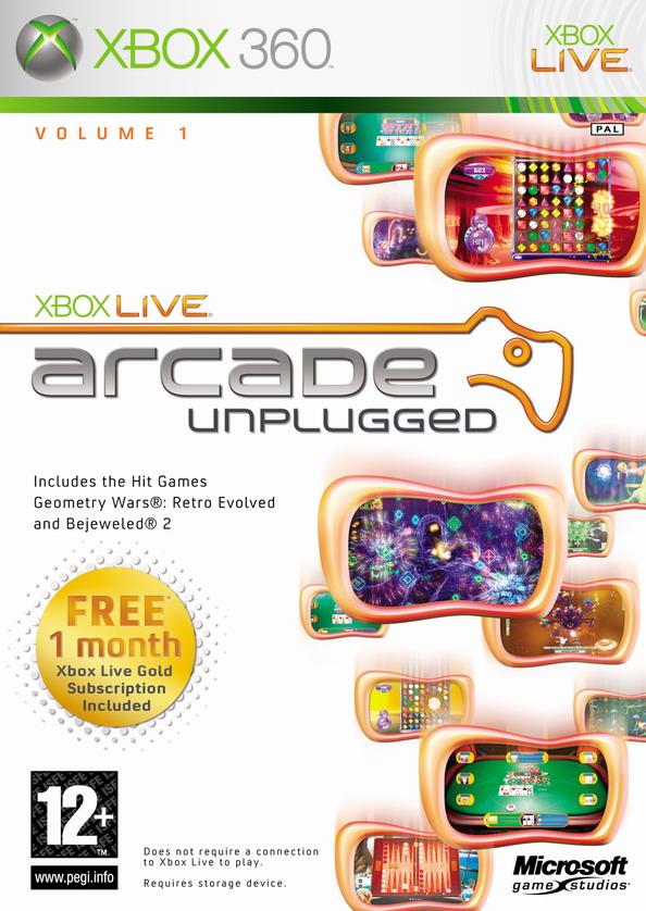 1 Xbox Live Arcade Unplugged Vol Microsoft Xbox 360, 2006