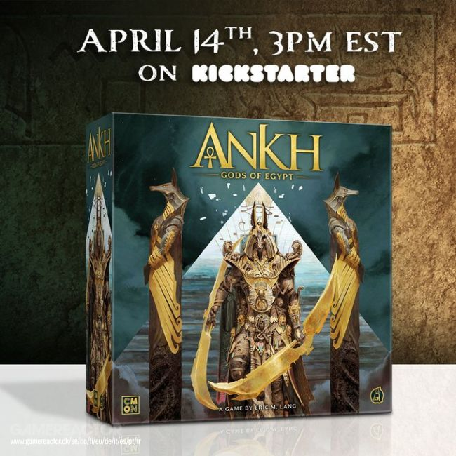 Boardgame Ankh: Gods of Egypt hits Kickstarter soon