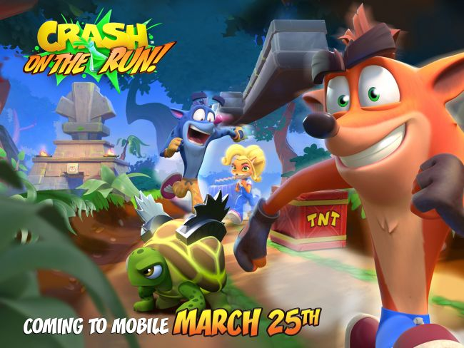 Crash Bandicoot On the Run! will dash onto mobile March 25