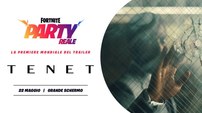 Tenet could be the first of many movie trailers shown in Fortnite