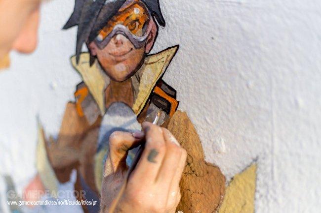 Work-in-progress Overwatch mural in Sydney looks great