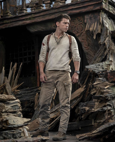 Tom Holland as Nathan Drake is amazing