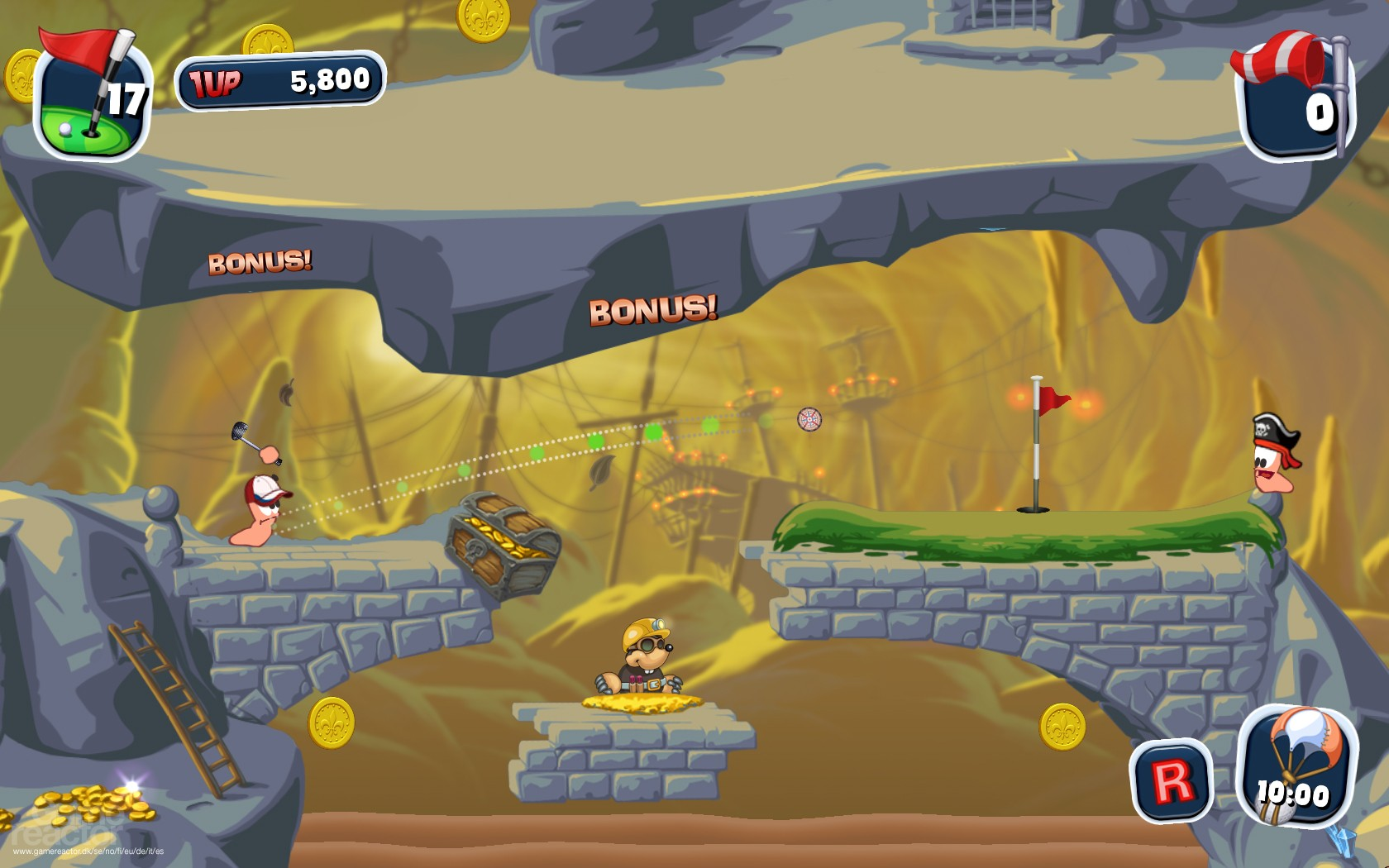 Worms Crazy Golf dated