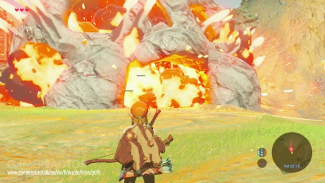 The Legend of Zelda: Breath of the Wild shown on the Switch