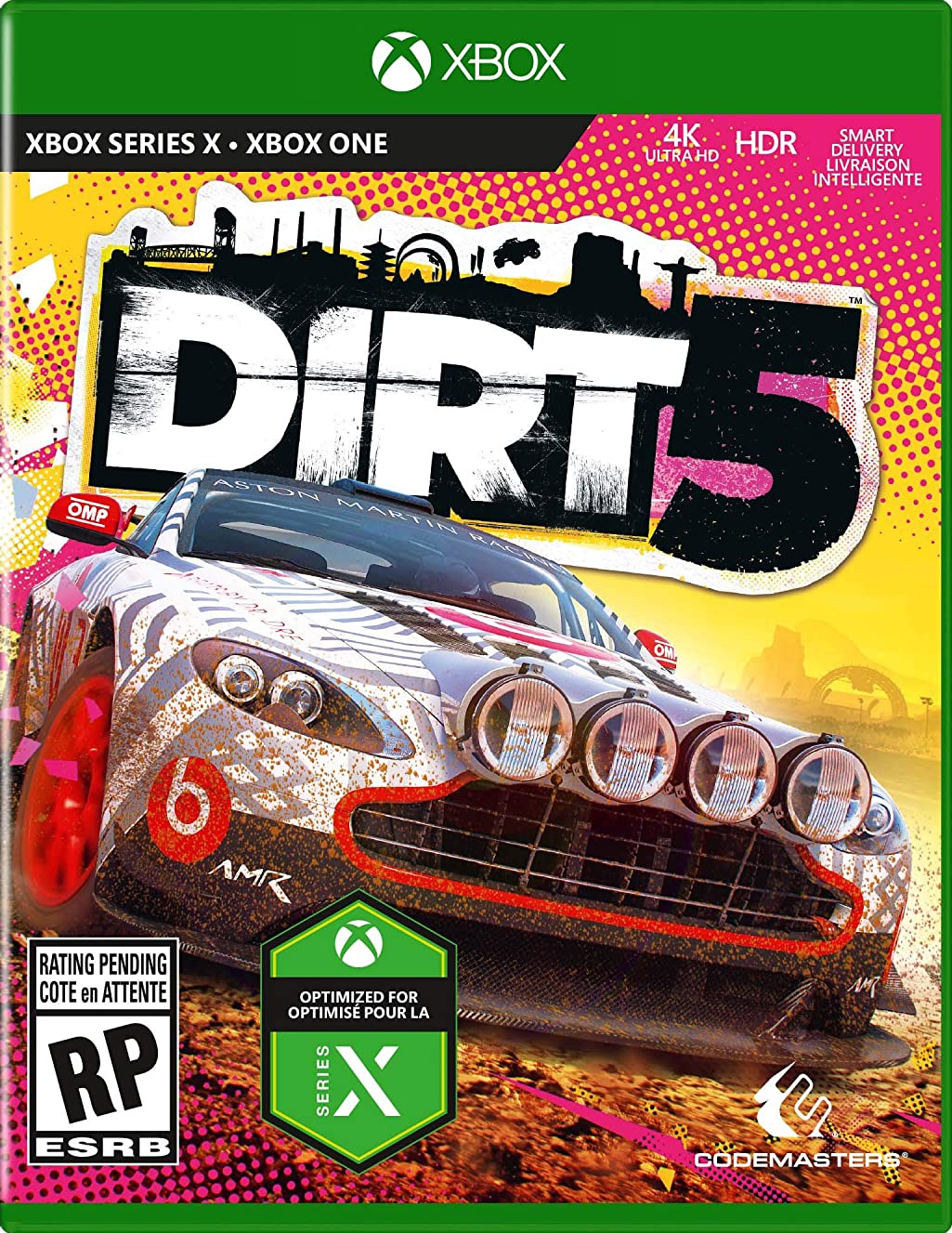 The Very Busy Box Art Of Xbox Series X Games Revealed Dirt 5 Gamereactor