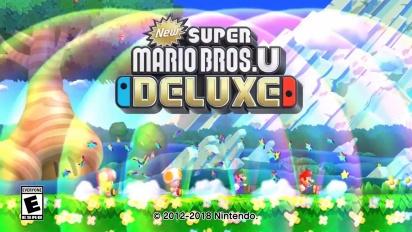 New Super Mario Bros U Deluxe Announcement Trailer