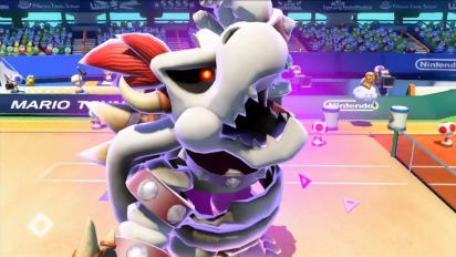 Mario Tennis: Ultra Smash - Dry Bowser, Boo and Bowser Jr Gets on Court Trailer