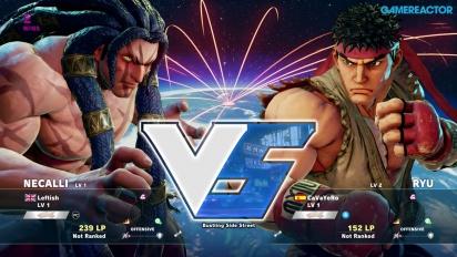 Street Fighter V - Beta Gameplay: Necalli vs. Ryu