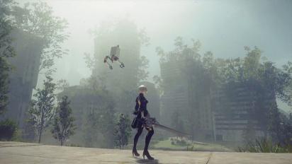 Nier: Automata - Final Fantaxy XV collaboration gameplay