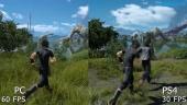 Final Fantasy XV - PC vs PS4 Graphics Comparison