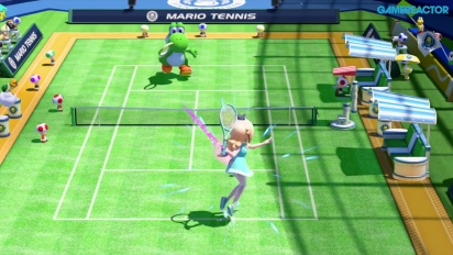 Mario Tennis: Ultra Smash - Mega Battle Gameplay - Rosalina vs Yoshi