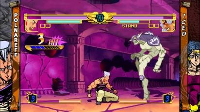 Jojo's Bizarre Adventure HD - Polnareff vs. Iced - Gameplay