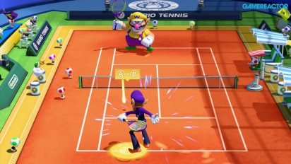 Mario Tennis: Ultra Smash - Knockout Challenge Gameplay - First 6 tiebreaks with Waluigi