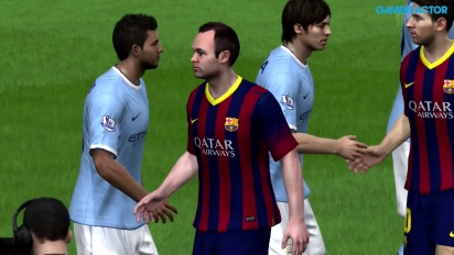 FIFA 14 - Champions League Last 16 - FC Barcelona vs Manchester City