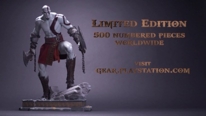 God of War - Kratos Statue - The Definitive Collection Trailer
