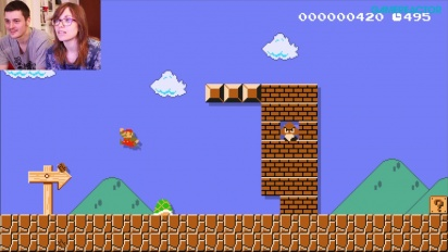 Super Mario Maker - Gameplay and Live Reactions: Fabrizia plays Shell-Service Level