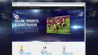 Madden NFL 13 - Connected Career Website Walkthrough
