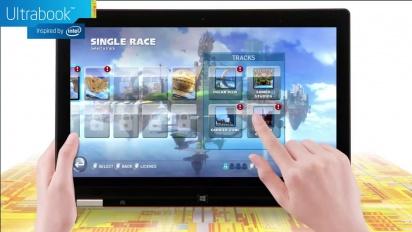 Sonic & All-Stars Racing Transformed - Intel Ultrabook Gameplay Trailer