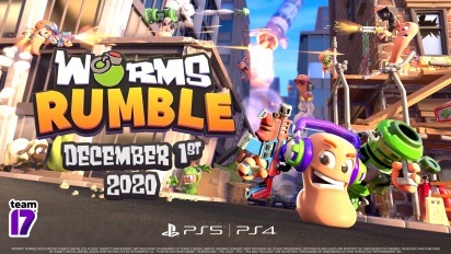 Worms Rumble - Release Date and Open Beta Announcement Trailer