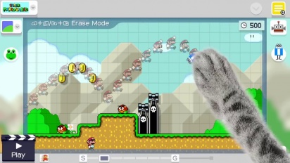 Super Mario Maker - Timelapse Course Creation