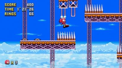 Sonic Mania - Flying Battery Zone Act 1 Knuckles Gameplay
