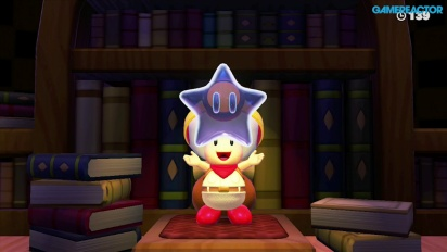 Captain Toad: Treasure Tracker: Mission 1-7 Spinwheel Library Gameplay