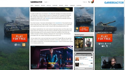 GRTV News - CD Projekt Red announces crunch on Cyberpunk 2077